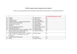 FBÖ 390 Topluma Hizmet Uygulamaları Dersi Şubeleri (Şube sayısı