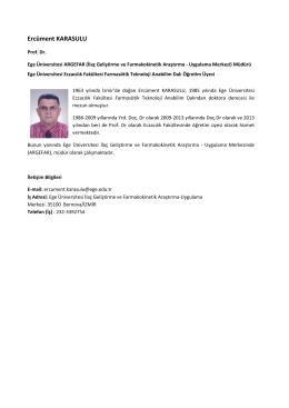 Ercüment KARASULU - Ege Üniversitesi