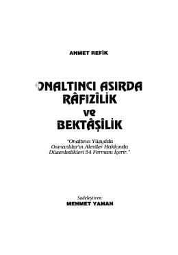 AHMET REFİK ALTINAY ONALTINCI ASIRDA