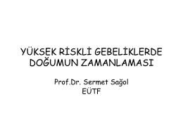 Prof. Dr. Sermet Sağol (19 Nisan 2013 / Perinatoloji)