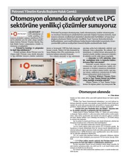 Otomasyon Alanında Akaryakıt ve LPG Sektörüne
