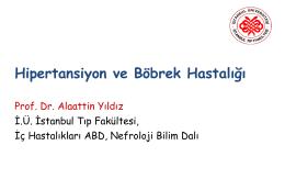 Prof. Dr. Alaattin YILDIZ - İstanbul Üniversitesi Tıp Fakültesi