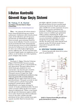 I-Buton Kontrollü Güvenli Kapõ Geçiş Sistemi