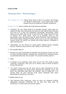 Konuşan Eller – MeisterSinger