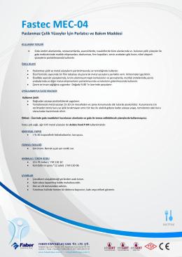 Fastec MEC-04 - Faber Kimya ve İlaç