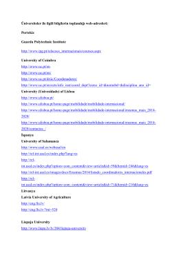 Üniversiteler ile ilgili bilgilerin toplandığı web
