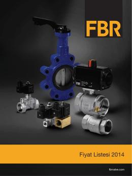 Fiyat Listesi İndir - FBR   Vana ve Akış Kontrol Sistemleri