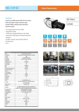 Karel NKE-124M-00 IP HD Box Kamera PDF Dosyası233.72 KB