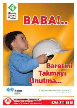 İş Güvenliği Afişleri - Süleyman Demirel Üniversitesi