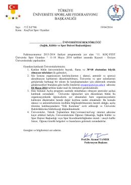 türkiye üniversite sporları federasyonu başkanlığı