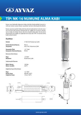 tip: nk-16 numune alma kabı