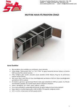 mutfak hava filtrasyon cihazı