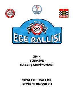 2014 türkiye ralli şampiyonası 2014 ege rallisi seyirci broşürü