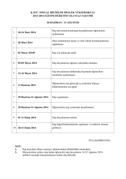 K.M.Ü. SOSYAL BİLİMLER MESLEK YÜKSEKOKULU 2013-2014