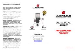 SL101.24EC.AL Serisi Programlama Talimatı