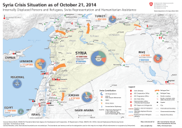 Map of the Humanitarian Assistance in Syria