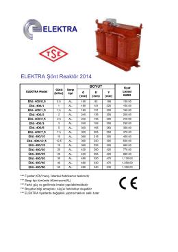 ELEKTRA Şönt Reaktör 2014