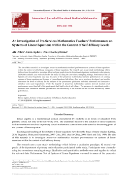 An Investigation of Pre-Services Mathematics Teachers
