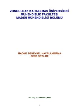 MAD447 Deneysel Havalandırma Ders Notları