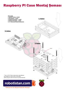Raspberry PI Case Montaj Şeması