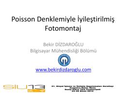 Poisson Denklemiyle İyileştirilmiş Fotomontaj