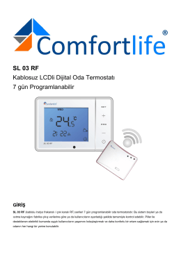 SL 03 RF Kablosuz LCDli Dijital Oda Termostatı 7 gün