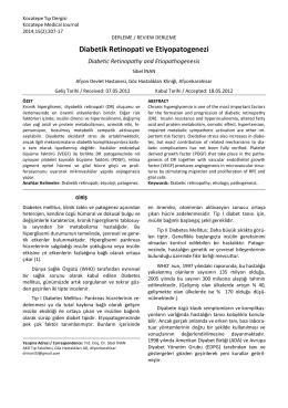 Diabetik Retinopati ve Etiyopatogenezi
