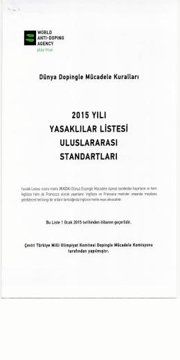 2015 Yılı Yasaklılar Listesi Uluslararası Standartları