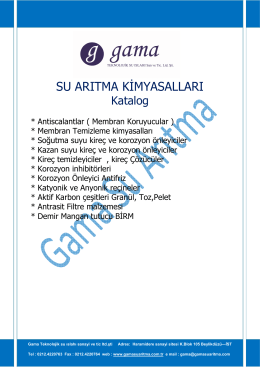 KATALOG pdf - Gama Teknolojik Su Islahı