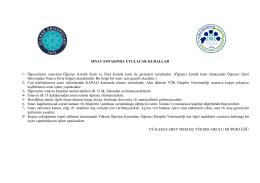2014-2015 Güz Y.Y. Arasınav Programı