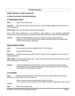 P R O T O K O L - İzmir Ticaret Odası