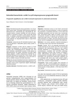 Kolorektal kanserlerde c-erbB-2 ve p53 ekspresyonunun prognostik