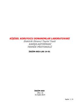 Koruyucu Eldivenlerin Elektrik Direnci Tayini Testi LAK Protokolü