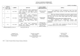 2014 Eylül Ayı - Antalya Emniyet Müdürlüğü