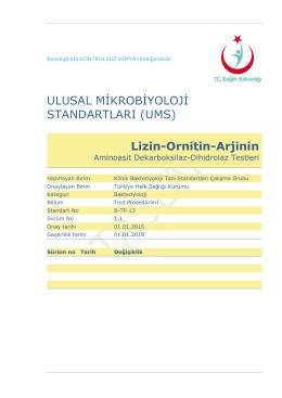 Lizin - Ornitin - Arjinin dekorboksilaz / dihidrolaz testleri