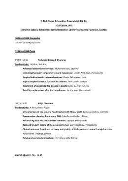 9. Türk-Yunan Ortopedi ve Travmatoloji Günleri 10