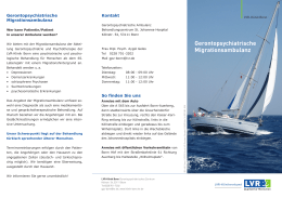 Gerontopsychiatrische Migrationsambulanz - LVR