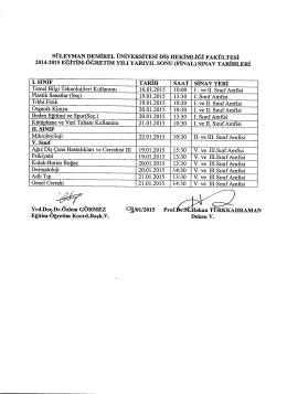 2014-2015 eğitim-öğretim yılı yarıyıl sonu (final)