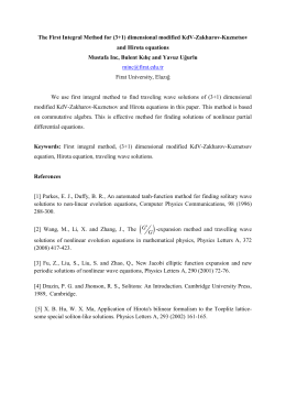 The First Integral Method for (3+1) dimensional modified KdV