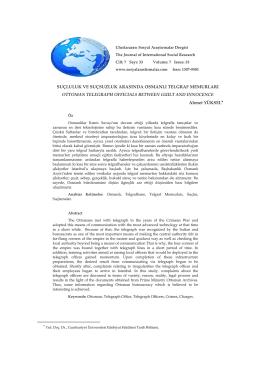 Suçluluk ve Suçsuzluk Arasında Osmanlı Telgraf Memurları