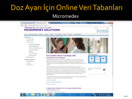 Doç. Dr. Mesut SANCAR - Nefrolojide Klinik Eczacının Rolü