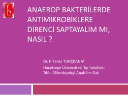 Anaerop Bakterilerde Antimikrobiklere Direnci Saptayalım Mı, Nasıl