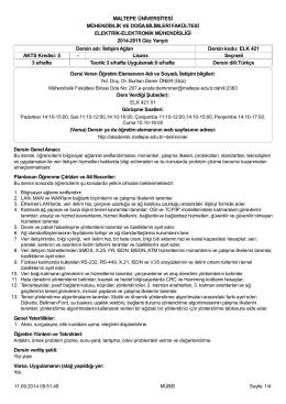 ELK 421 izlence (14-15) - Akademik Web Sayfaları