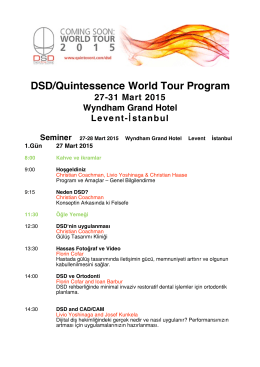 DSD-Quintessence World Tour Program_saatli_Hekim