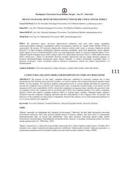 Dumlupınar Üniversitesi Sosyal Bilimler Dergisi – Sayı 39 – Ocak