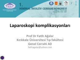 Laparoskopi komplikasyonları