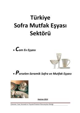 Türkiye Sofra Mutfak Eşyası Raporu