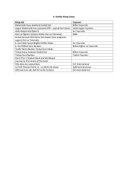 6. Sınıflar - Özel Tevfik Fikret Okulları
