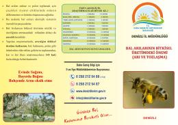 Arı ve Tozlaşma - Denizli İl Gıda Tarım ve Hayvancılık Müdürlüğü