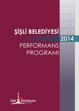 "2014 yılına ait ""Performans Programı"""